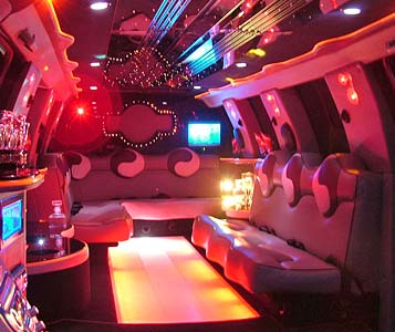 Luxurious Seating in Ace of Hearts Limo SUV